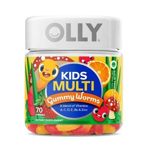 Olly Kids Multivitamin Gummy Worms - 70ct - image 1 of 4