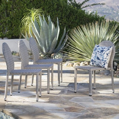 Aurora 4pk Wicker Stacking Chairs - Christopher Knight Home