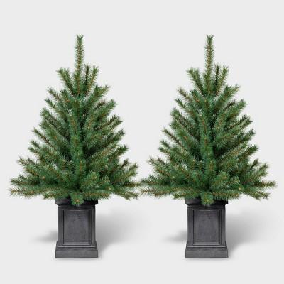 2pk 3ft Unlit Potted Douglas Fir Artificial Tree - Wondershop™