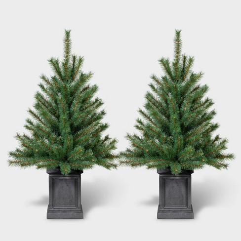 2pk 3ft Unlit Potted Douglas Fir Artificial Tree - Wondershop™ - image 1 of 3