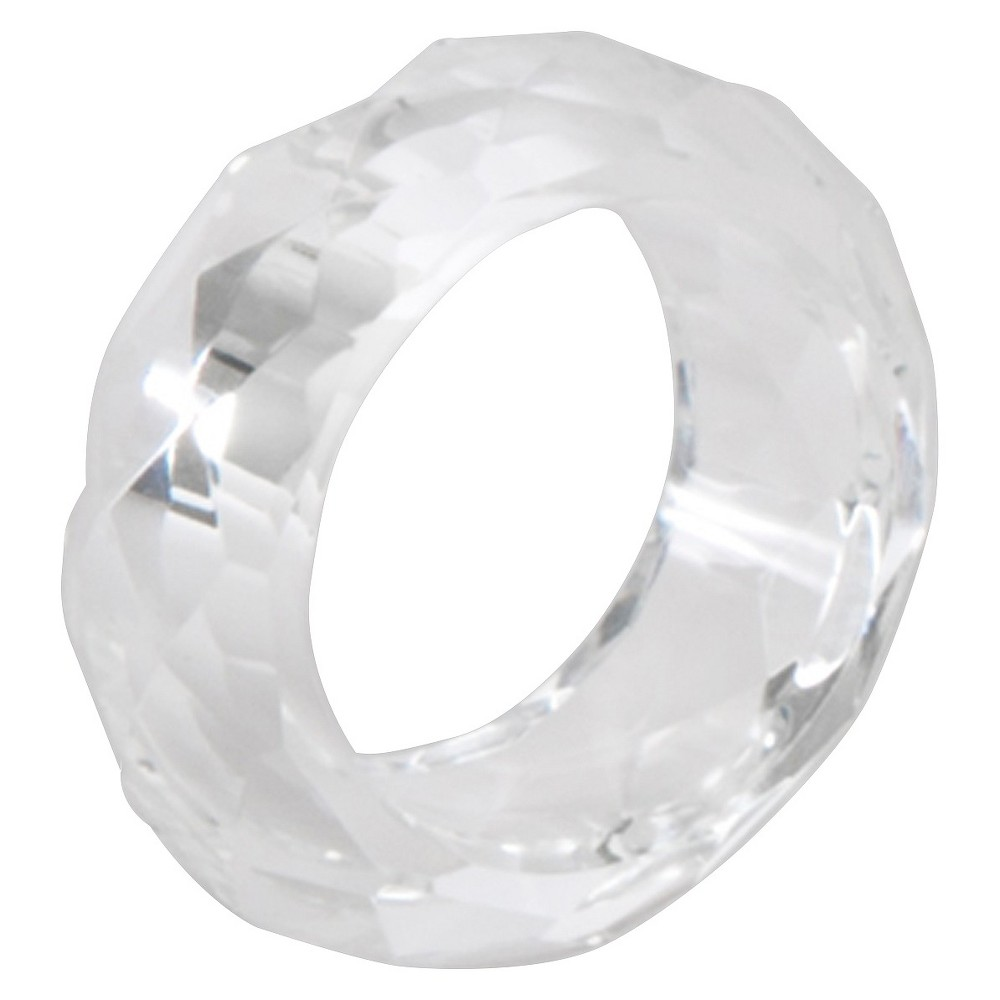 Image of Crystal Napkins Rings - Clear (Set of 4), Round Clear