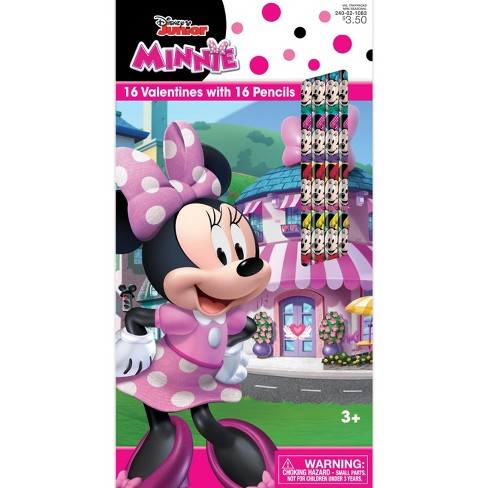 16ct Disney Minnie Valentine Card Pack with Pencils - image 1 of 1