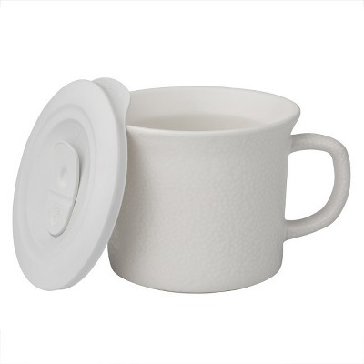 Corningware 20oz Hammered Pop-in Portable Drinkware White