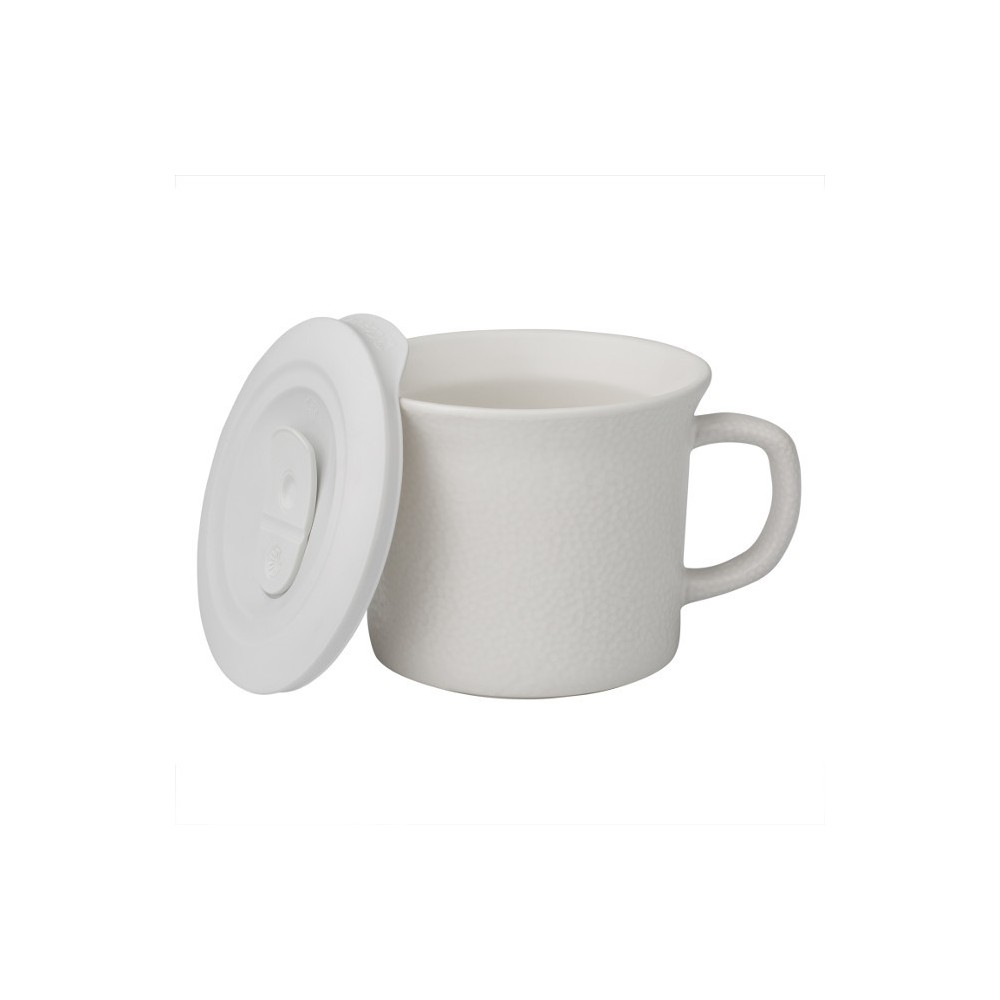 Image of Corningware 20oz Hammered Pop-in Portable Drinkware White