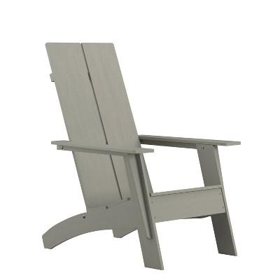 Flash Furniture Sawyer Modern All-Weather Poly Resin Wood Adirondack Chair