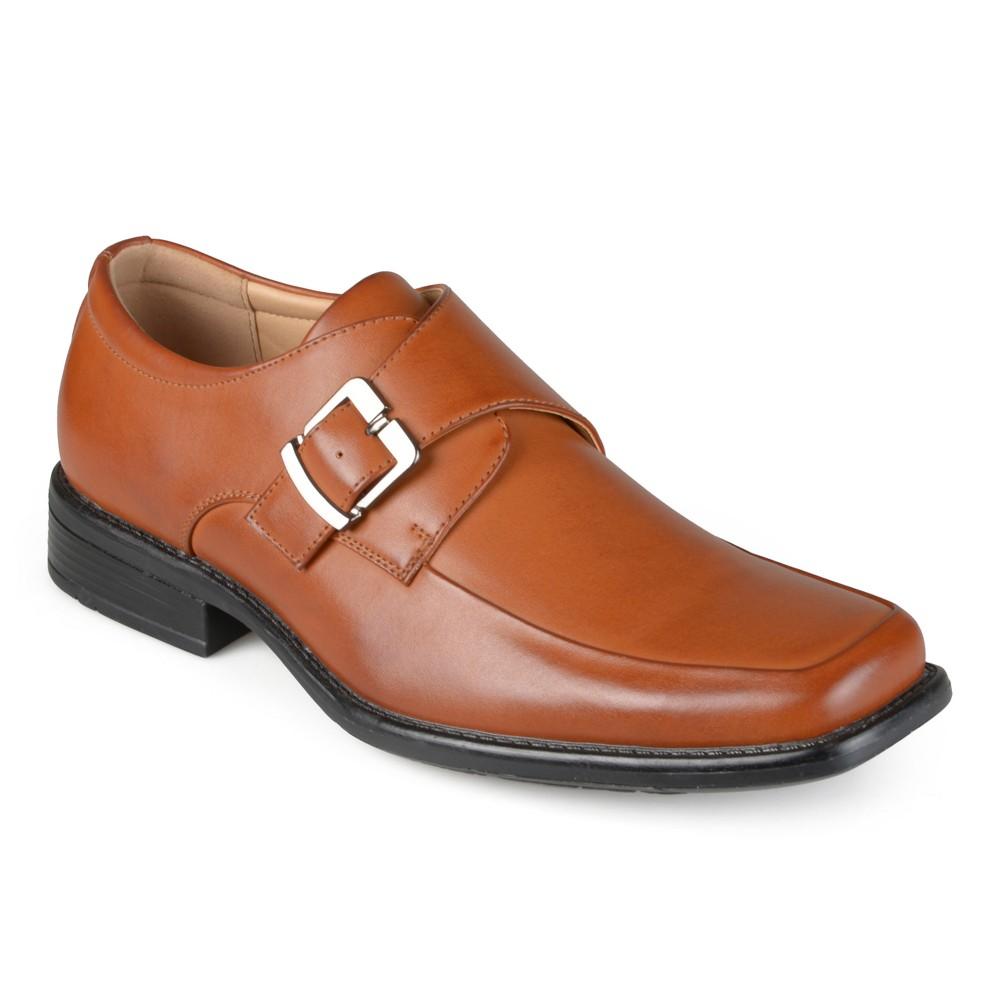 Men's Vance Co. Eli Square Toe Faux Leather Slip-on Loafers - Tan 8