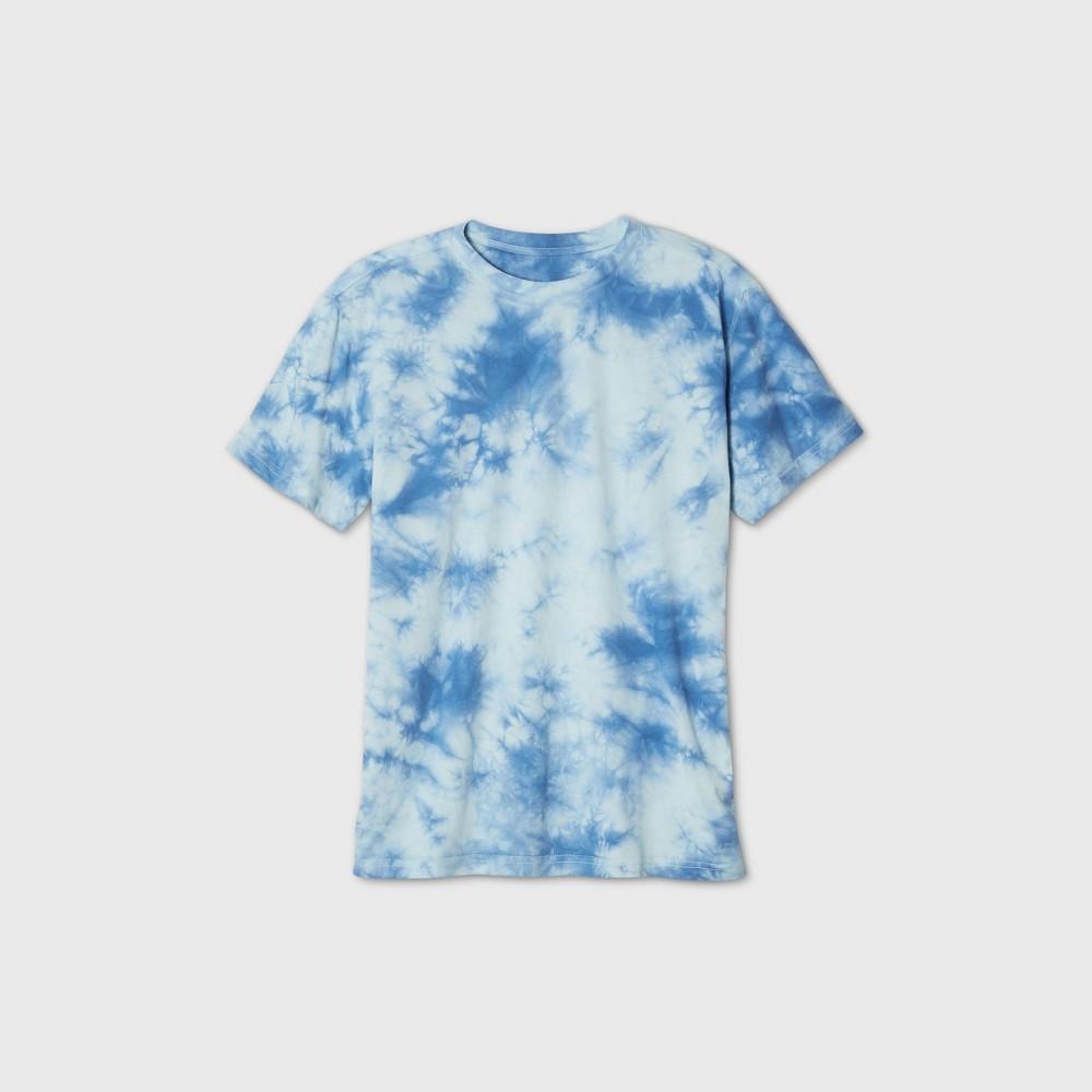 Mens Tie-Dye Short Sleeve Crewneck T-Shirt - Original Use Blue XL