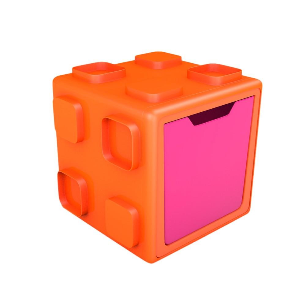 Chillafish Modular Toy Storage Box - Orange and Pink