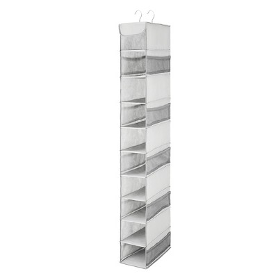 OSTO 10-Shelf Hanging Shoes Organizer Space Saving Closet Organizer with Mesh Pockets for Shoes, Bags, Purses, and More