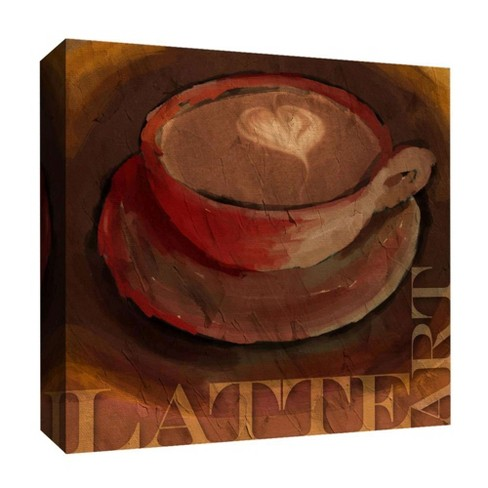 "Latte Art Decorative Canvas Wall Art 16""x16"" - PTM Images - image 1 of 1"