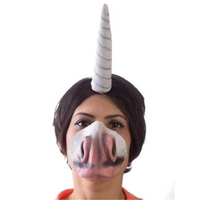HMS Unicorn Adult Costume Horn Headband & Nose Set