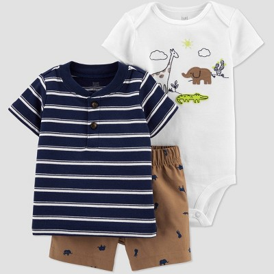 Baby Boys' Safari Top & Bottom Set - Just One You® made by carter's Navy 9M