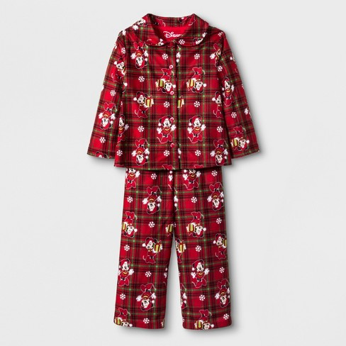 273e26d1d4 Toddler Girls  Minnie Mouse 2pc Coat Pajama Set - Red 4T   Target