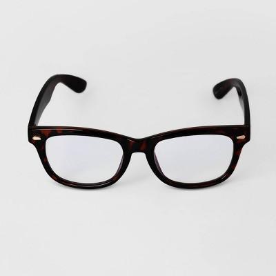 Men's Tortoise Shell Rectangle Blue Light Filtering Square Glasses - Goodfellow & Co™ Brown