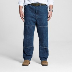 5c9c9351 Dickies Men's Big & Tall Relaxed Straight Fit Double Knee Denim Carpenter  Jeans