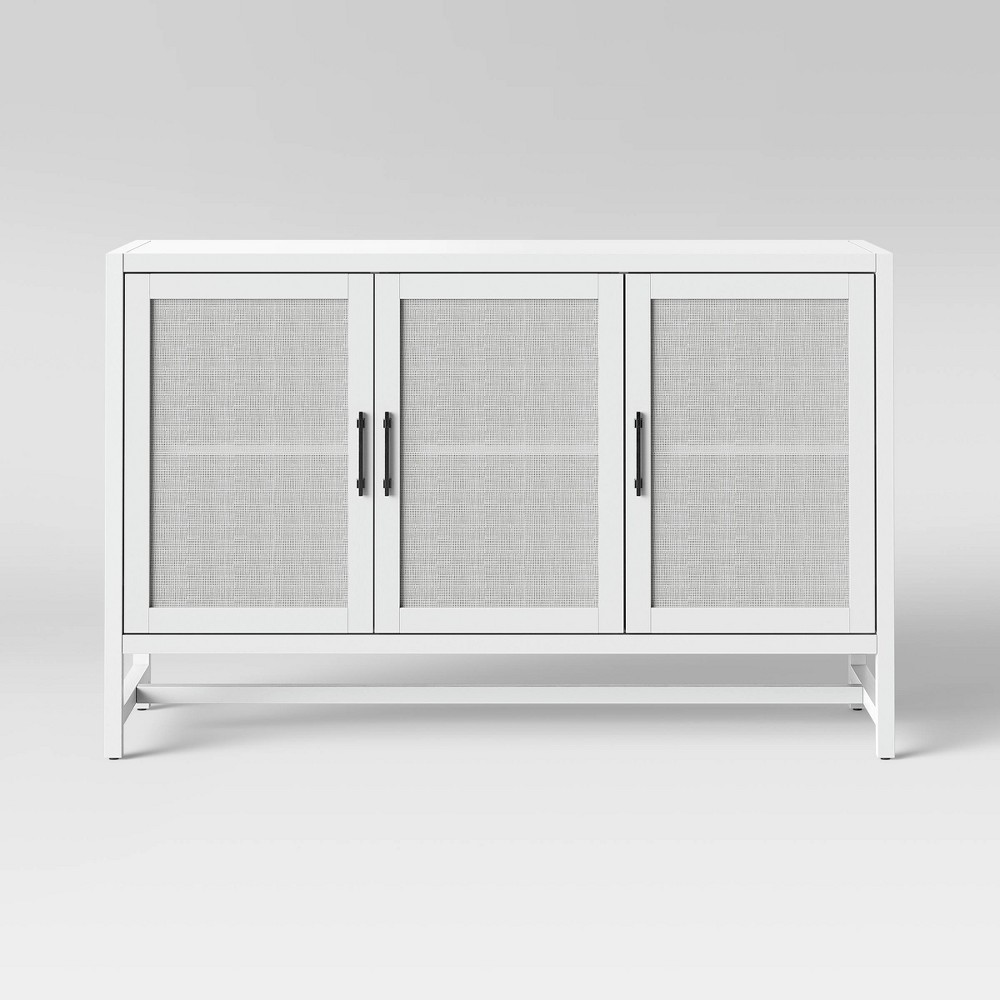 50 Warwick 3 Door Accent Media Cabinet White - Threshold