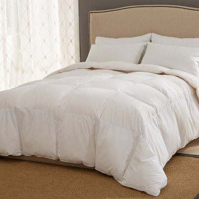 Puredown Ultra Feather Comforter White Down Fiber with Cotton Cover