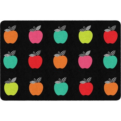 """5'x7'5"""" Rectangle Indoor and Outdoor Apple Nylon Accent Rug Multicolored - Flagship Carpets"""