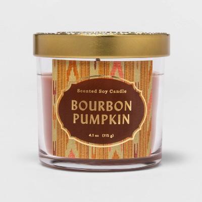 4.1oz Lidded Glass Jar Bourbon Pumpkin Candle - Opalhouse™