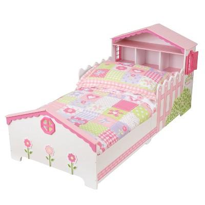 Kidkraft Dollhouse Toddler Bed - Pink & White