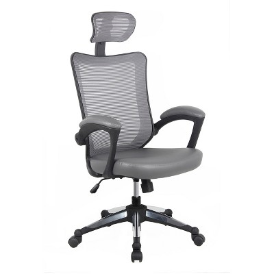 High - Back Mesh Executive Office Chair With Headrest - Gray - Techni Mobili  Target  sc 1 st  Target & High - Back Mesh Executive Office Chair With Headrest - Gray ...