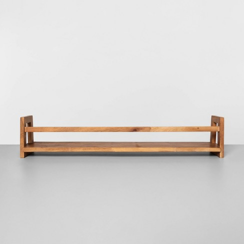 Wall Mounted Bookshelf Brown - Hearth & Hand™ with Magnolia - image 1 of 3