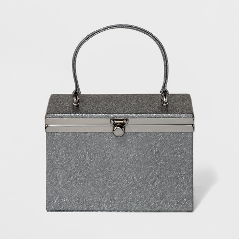 Estee & Lilly Box with Handle Clutch - Pewter - image 1 of 2