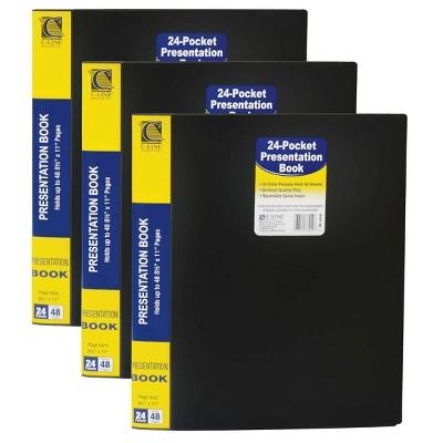 3pk 24 Pocket Bound Sheet Protector Presentation Book - C-Line
