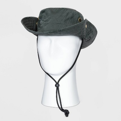 Men's Bonnie Hat with Black Cord - Goodfellow & Co™ Olive Green M/L