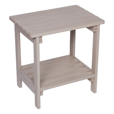 Indoor Outdoor Rectangular Side Table with HYDRO-TEX™ finish - Shine Company Inc.