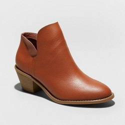 Women's Indie Faux Leather Heeled Bootie - Universal Thread™