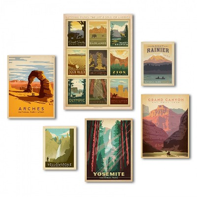 Americanflat - U.S. National Parks by Anderson Design Group Canvas Art Set