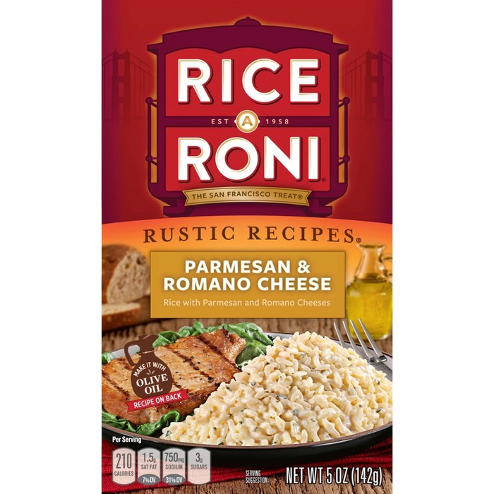 Rice A Roni Rustic Recipes Parmesan & Romano Cheese Rice - 5oz - image 1 of 5