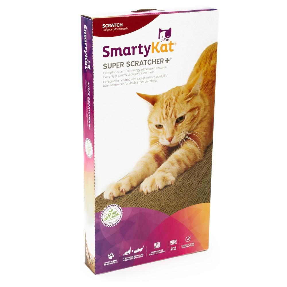SmartyKat Super Scratcher + Catnip Infused Scratcher - Brown