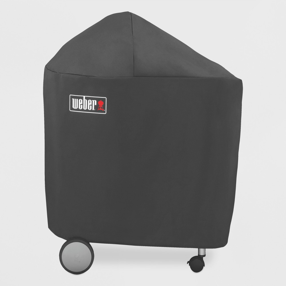Weber 22 inch Performer with Folding Table Charcoal Grill Cover with Storage Bag, Black 16879856
