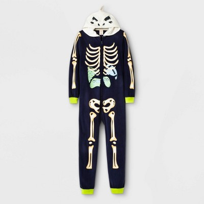 Boys' Dino Skeleton Pajama Jumpsuit - Cat & Jack™ Navy