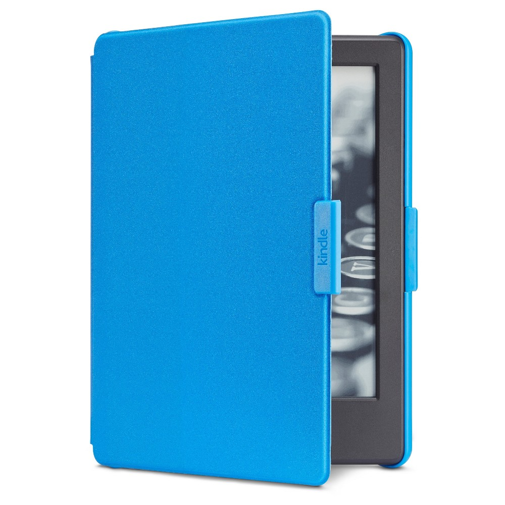 Amazon Cover for Kindle (8th Generation, 2016) - Blue Protect your e-reader with the Amazon Cover for Kindle, Protective and Form Fitting Case for Kindle E-Reader (8th Generation, 2016). This kindle case fits snugly and has a foldable cover to shield your screen. Color: Blue.
