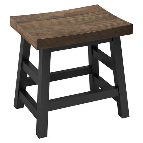 "20"" Bar Stool Hardwood Brown - Alaterre Furniture - image 1 of 4"