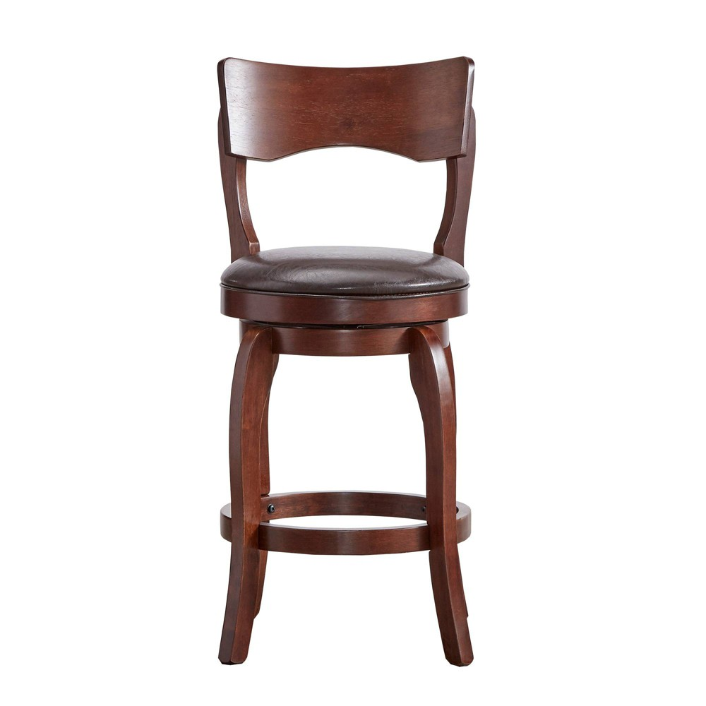 "Image of ""24"""" Calder Swivel Counter Stool Chocolate - Inspire Q"""