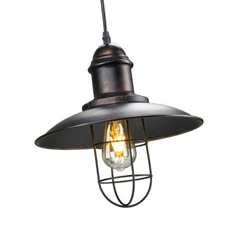 Damara Cage Pendant Lamp Black Brushed Copper Aiden Lane Target