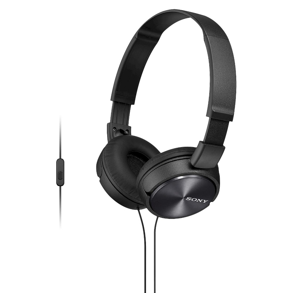 Sony On-the-Ear Headphones for Smartphones - Black Sound meets style with smartphone playback controls for life on the go. More than your basic pair of over the-head headphones, the Sony Mdr-ZX310AP headset delivers rock-solid audio performance, integrated microphone for hands-free calling and media playback controls for convenient operation. Color: Black. Age Group: Adult.