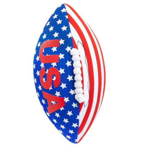 Wemco™ USA Cloth Football Sports Ball - Red White & Blue - image 1 of 1