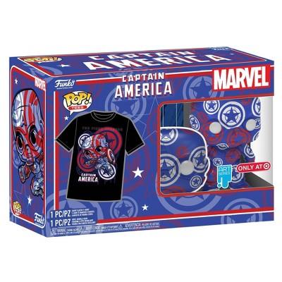 Funko POP! Collector's Box: Captain America Marvel Patriotic Age POP & Tee (Target Exclusive)