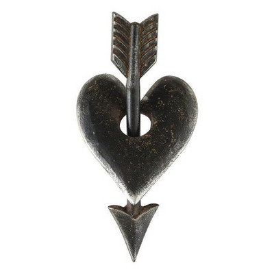 "10"" x 4.5"" Metal Heart and Arrow Accent Piece - 3R Studios"