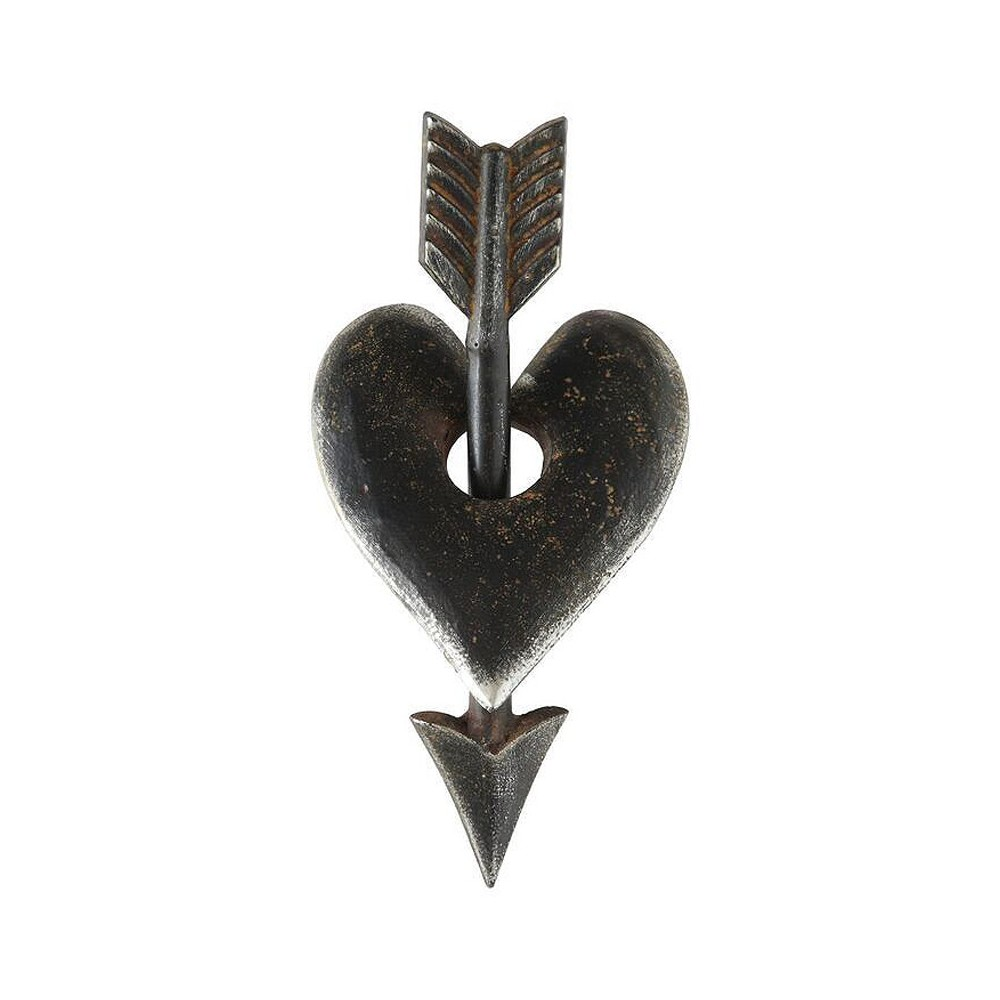 "Image of ""10"""" x 4.5"""" Metal Heart and Arrow Accent Piece - 3R Studios"""