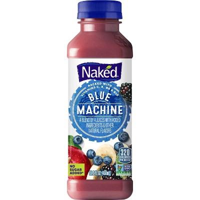 Naked Blue Machine Juice Smoothie - 15.2 fl oz Bottle