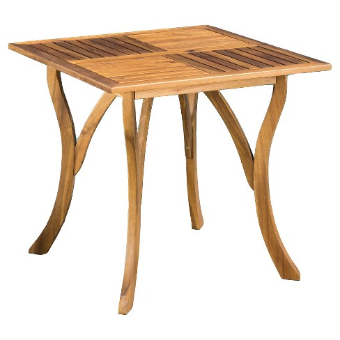 """Hermosa 31.5"""" Square Acacia Wood Table -Teak Finish - Christopher Knight Home - image 1 of 4"""