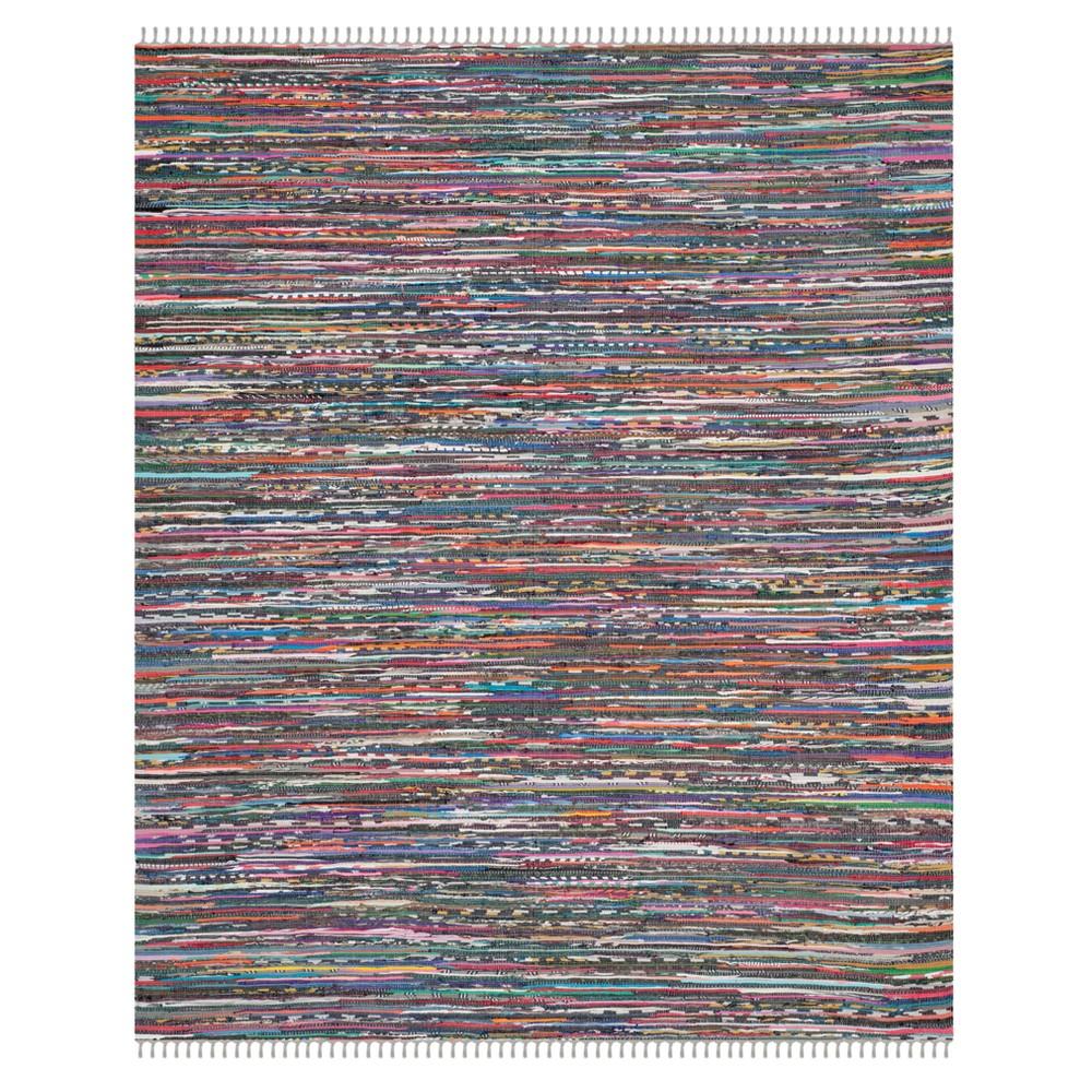 Solid Woven Area Rug 8'X10' - Safavieh, Gray/Multi