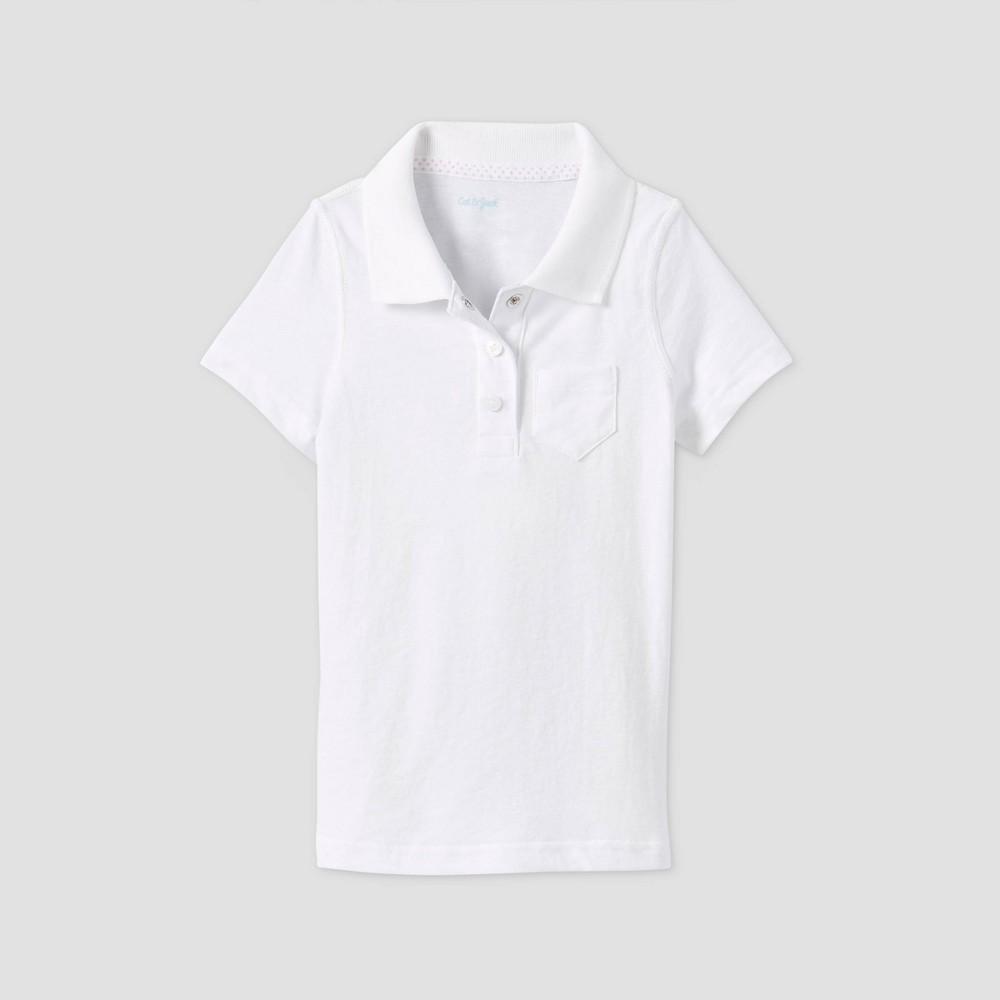 Toddler Girls 39 Short Sleeve Polo Shirt Cat 38 Jack 8482 White 2t