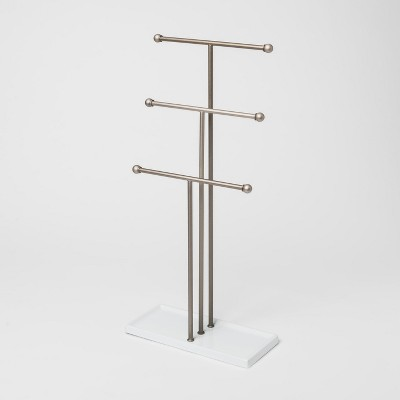 Trigem Jewelry Stand White/Nickel - Umbra